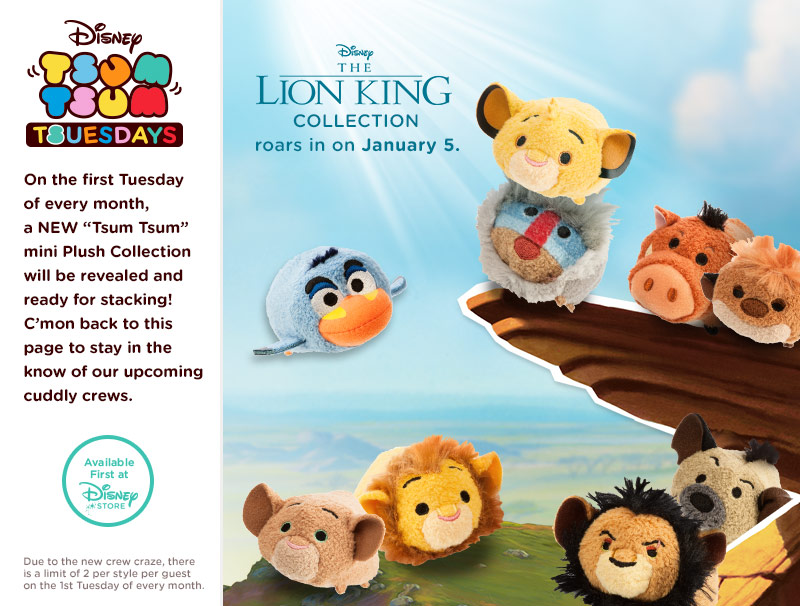 The Lion King Tsum Tsum Collection My Tsum Tsum