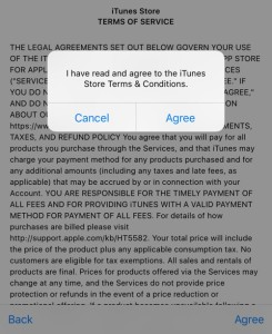 Agree to TOS - iOS