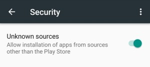 Turn on Unknown Sources - Android