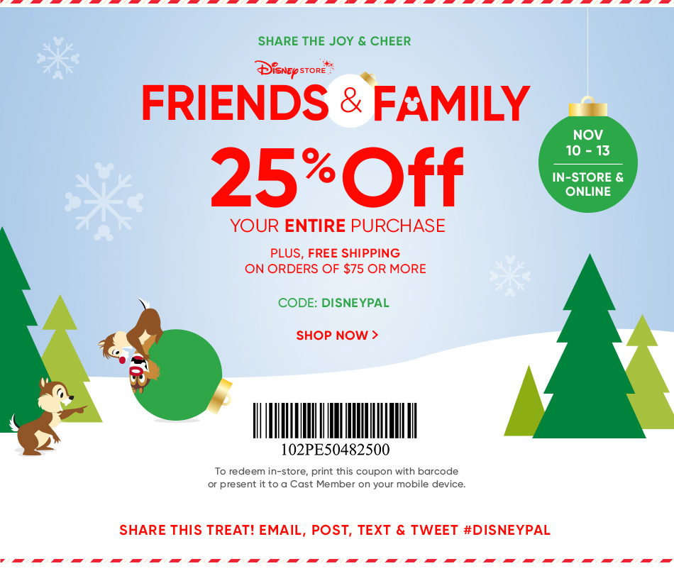 Disney Store Friends & Family Promotion | My Tsum Tsum